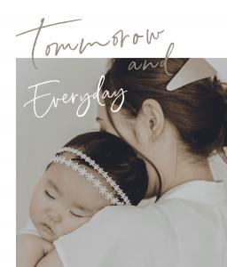 ママたちが作るベビーとキッズのためのハンドメイドアクセサリーTomorrow and Everydayのスマホバナー画像です